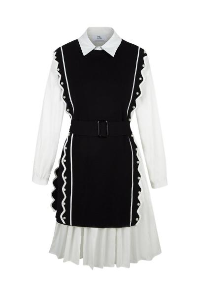 Set - Iconic - Knit Shirt Skirt B&W Set - Iconic - Knit Shirt Skirt B&W