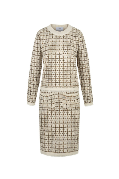 Set- Iconic- Tweed Knit &  Pants - Beige Brown Set- Iconic- Tweed Knit &  Pants - Beige Brown