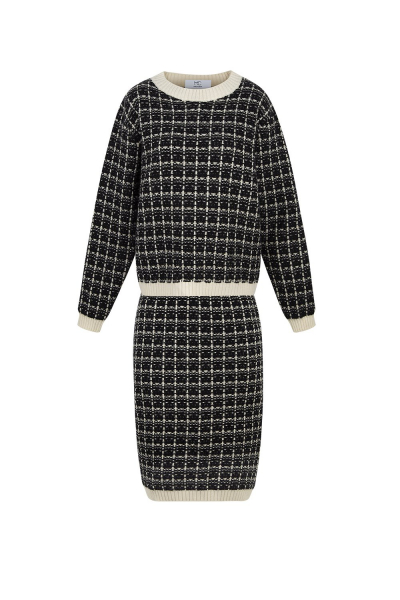 Set - Iconic - Tweed Knit & Skirt - Black/White Set - Iconic - Tweed Knit & Skirt - Black/White