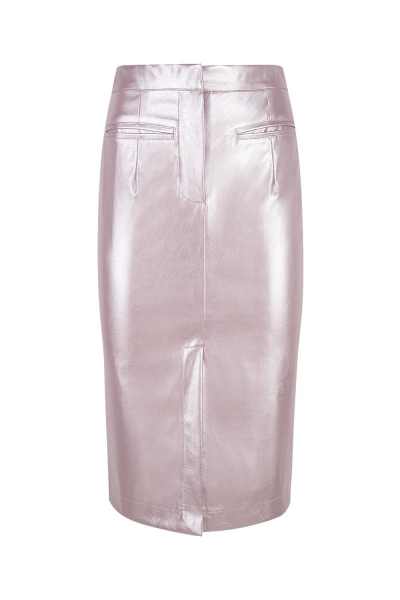 Skirt - Iconic - Pencil Skirt-  Latex Effect-  Rose Skirt - Iconic - Pencil Skirt-  Latex Effect-  Rose