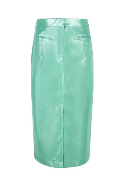 Skirt- Iconic - Pencil Skirt - Latex Effect - Jade Green Skirt- Iconic - Pencil Skirt - Latex Effect - Jade Green