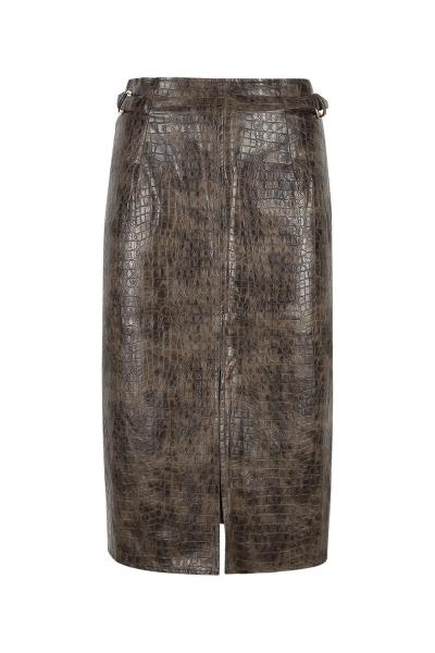 Skirt - Iconic - Pencil Pyton Print - Moka Skirt - Iconic - Pencil Pyton Print - Moka