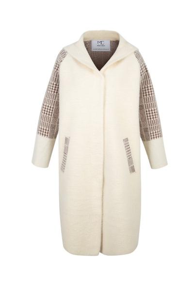Coat Iconic Cashmere Blend-  Ecru Beige Marrone Coat Iconic Cashmere Blend-  Ecru Beige Marrone