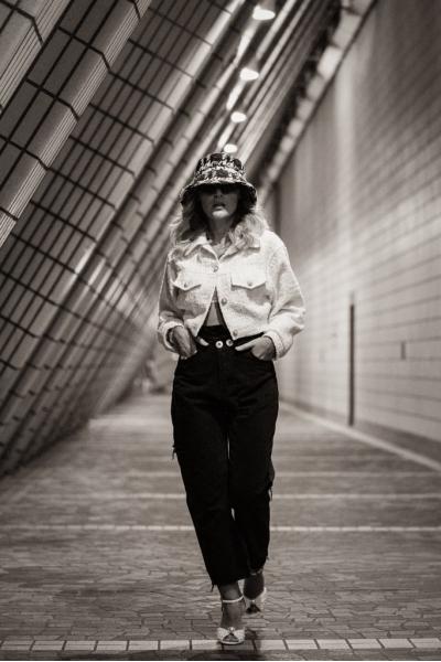 Jacket - Iconic - Bomber  Style - Tweed - White Jacket - Iconic - Bomber  Style - Tweed - White