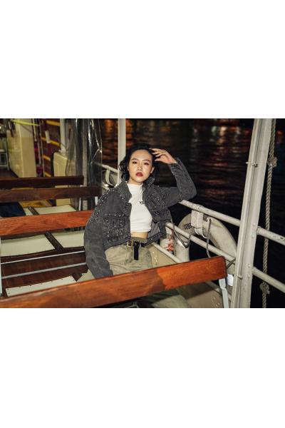 Denim Jacket - Iconic - Grey  With Luxurius Details - Hongkong Shooting Denim Jacket - Iconic - Grey  With Luxurius Details - Hongkong Shooting