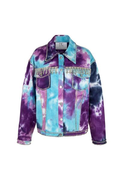 Denim Jacket - Iconic Batik Wash - Strass Details - Hongkong Shooting Denim Jacket - Iconic Batik Wash - Strass Details - Hongkong Shooting