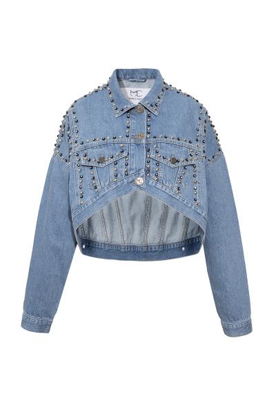 Denim Jacket - Blue With Luxurious Details Denim Jacket - Blue With Luxurious Details