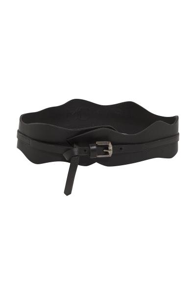 Belt 'Taboo'  #02- Thin Corset - Terracotta / White / Black 100% Leather Belt 'Taboo'  #02- Thin Corset - Terracotta / White / Black 100% Leather