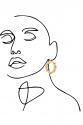 Earring - Totem #142- Gold  Plated - Medium Hoop