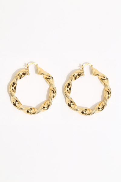 Earring - Totem #142- Gold  Plated - Medium Hoop Earring - Totem #142- Gold  Plated - Medium Hoop