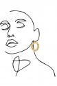 Earring - Totem #140- Gold Plated- Medium  Hoop
