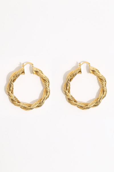 Earring - Totem #140- Gold Plated- Medium  Hoop Earring - Totem #140- Gold Plated- Medium  Hoop
