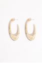 Earring - Totem- Light Ivory Look Plexi- Medium/Large  Hoop