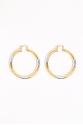 Earring - Totem #134- Gold/Silver Plated - Medium  Hoop