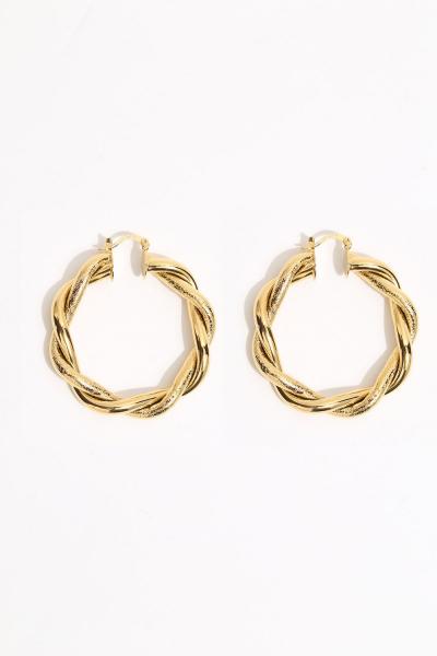 Earring - Totem #133- Gold Plated-Medium  Hoop Earring - Totem #133- Gold Plated-Medium  Hoop