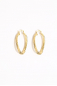 Earring - Totem #150- Gold Plated-  Medium Eclips Hoop