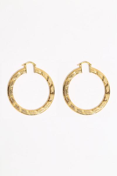 Earring - Totem #125- Gold Plated- Medium  Hoop Earring - Totem #125- Gold Plated- Medium  Hoop