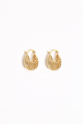 Earring - Totem #120- Gold Plated- Small  Hoop
