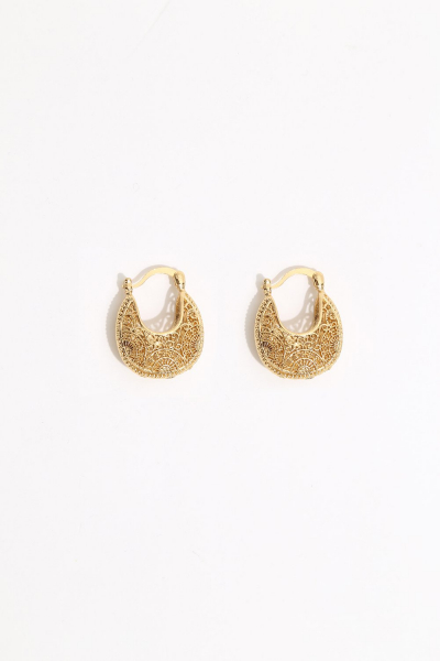 Earring - Totem #120- Gold Plated- Small  Hoop Earring - Totem #120- Gold Plated- Small  Hoop