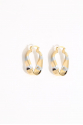 Earring - Totem #119 - Gold/Silver Plated - Small  Hoop