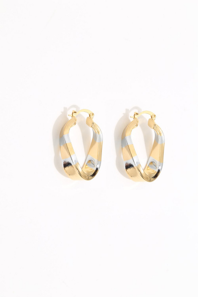 Earring - Totem #119 - Gold/Silver Plated - Small  Hoop Earring - Totem #119 - Gold/Silver Plated - Small  Hoop