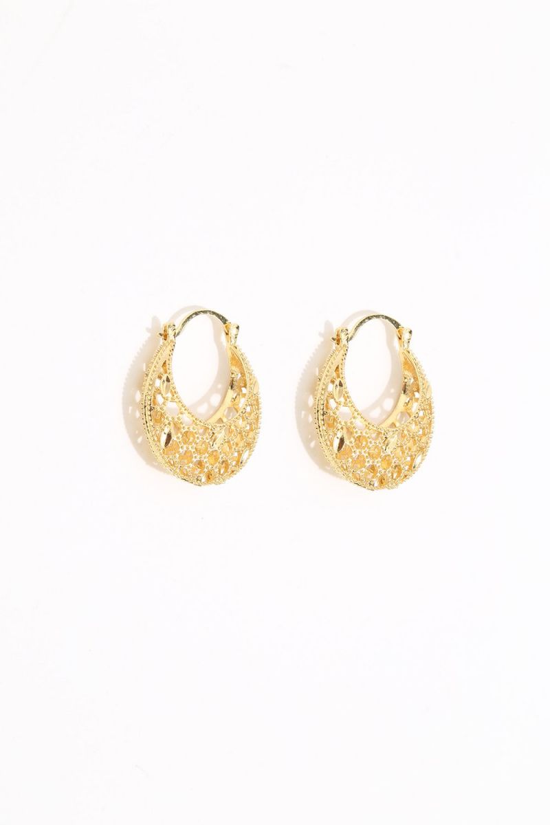 Earring - Totem #105 - Gold Plated  - Extra Small  Hoop