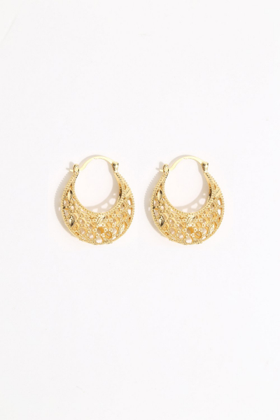 Earring - Totem #105 - Gold Plated  - Extra Small  Hoop Earring - Totem #105 - Gold Plated  - Extra Small  Hoop