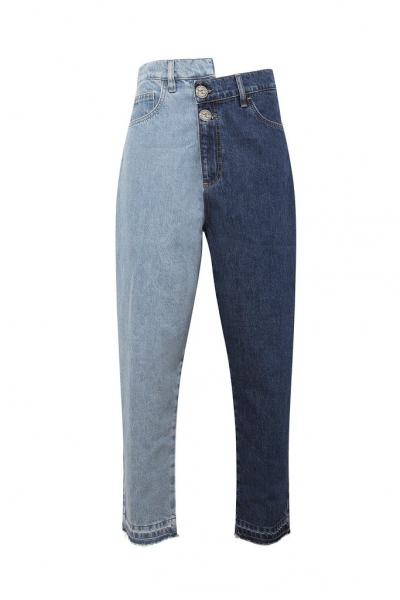 Bicolor Denim Blue Jeans *Recycled Cotton* Bicolor Denim Blue Jeans *Recycled Cotton*