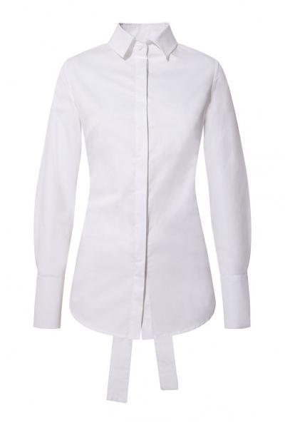 Backless Shirt - White Backless Shirt - White