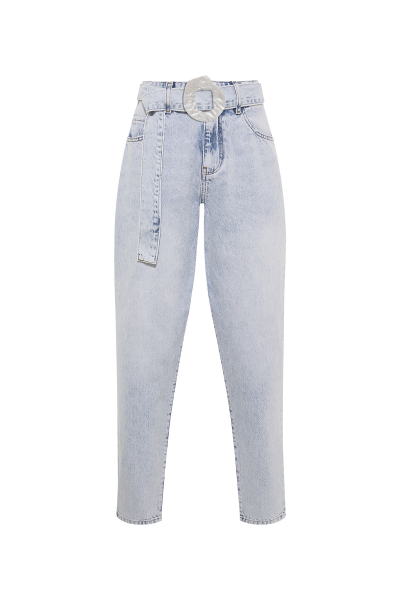 Denim Ice Blue Jeans & Real Seashell Belt Accessories  *Recycled Cotton* Denim Ice Blue Jeans & Real Seashell Belt Accessories  *Recycled Cotton*