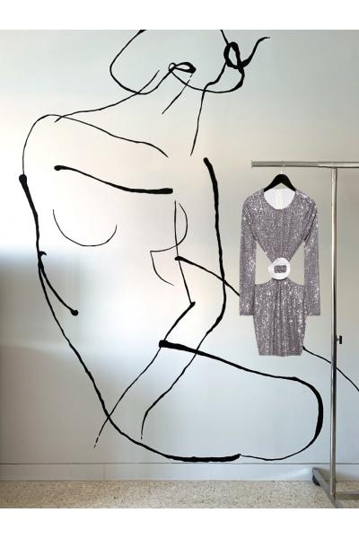 Date Night -  #27- Dress - Silver - Real Seashell Belt Accessories Date Night -  #27- Dress - Silver - Real Seashell Belt Accessories