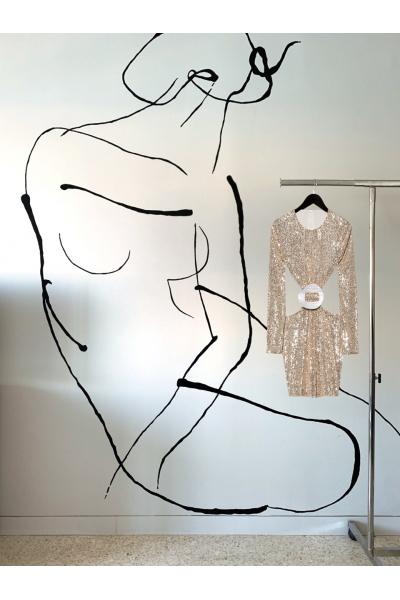 Date Night- #26 - Dress - Gold - Real Seashell Belt Accessories Date Night- #26 - Dress - Gold - Real Seashell Belt Accessories