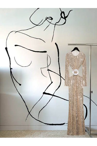 Date Night - #29- Long Dress Gold - Real Seashell Belt Accessories Date Night - #29- Long Dress Gold - Real Seashell Belt Accessories