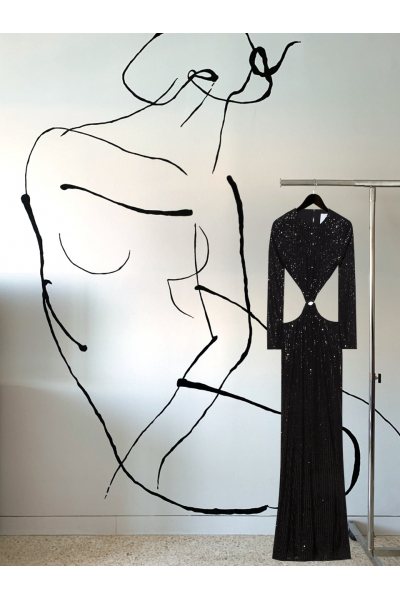Date Night - #36 - Long Dress Black - Real Seashell Belt Accessories Date Night - #36 - Long Dress Black - Real Seashell Belt Accessories