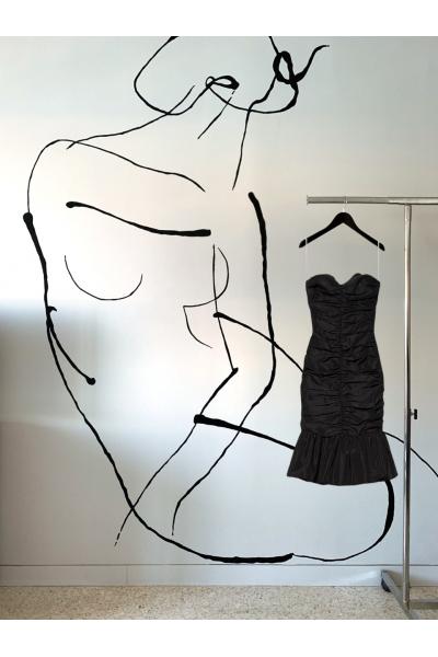 Date Night - #41 Taffetta Dress - Black Date Night - #41 Taffetta Dress - Black