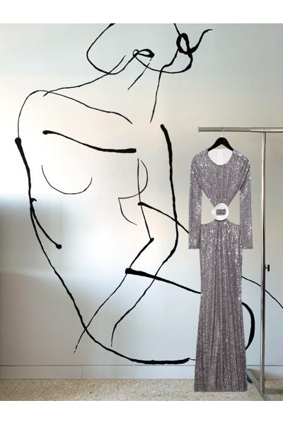 Date Night - #30- Long Dress Silver - Real Seashell Belt Accessories Date Night - #30- Long Dress Silver - Real Seashell Belt Accessories