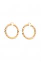 Earring - Totem #57- Gold Plated - Medium Hoop