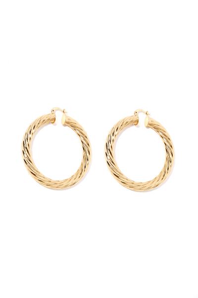 Earring - Totem #57- Gold Plated - Medium Hoop Earring - Totem #57- Gold Plated - Medium Hoop