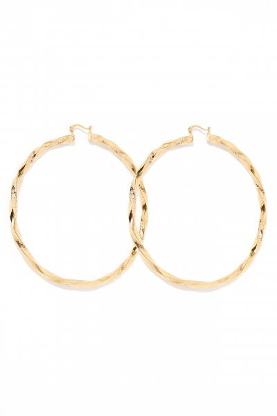 Earring - Totem #55- Gold Plated - Xxl Hoop Earring - Totem #55- Gold Plated - Xxl Hoop