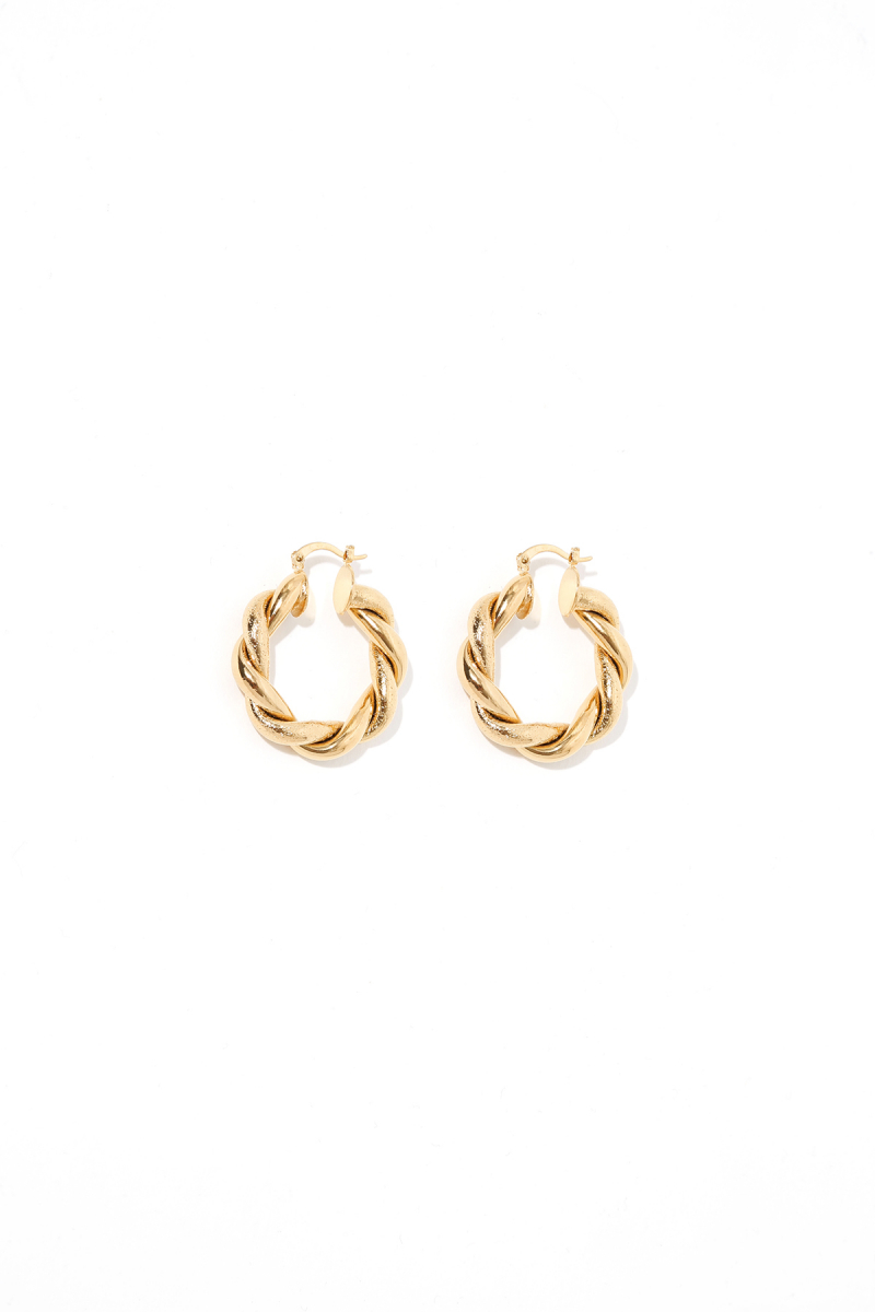 Earring - Totem #58- Gold Plated - Small Hoop