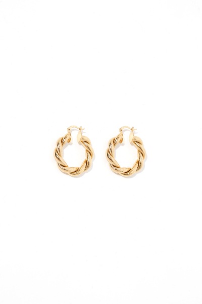 Earring - Totem #58- Gold Plated - Small Hoop Earring - Totem #58- Gold Plated - Small Hoop