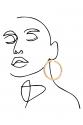 Earring - Totem #56- Gold Plated - Big Hoop