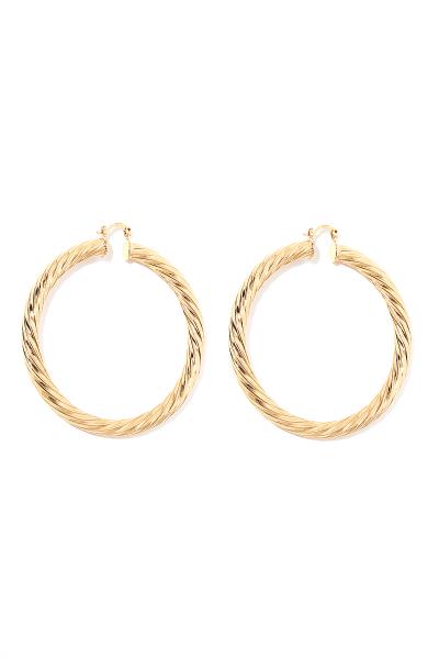 Earring - Totem #56- Gold Plated - Big Hoop Earring - Totem #56- Gold Plated - Big Hoop