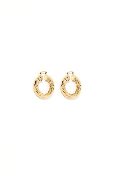 Earring - Totem #59- Gold Plated - Small Hoop Earring - Totem #59- Gold Plated - Small Hoop