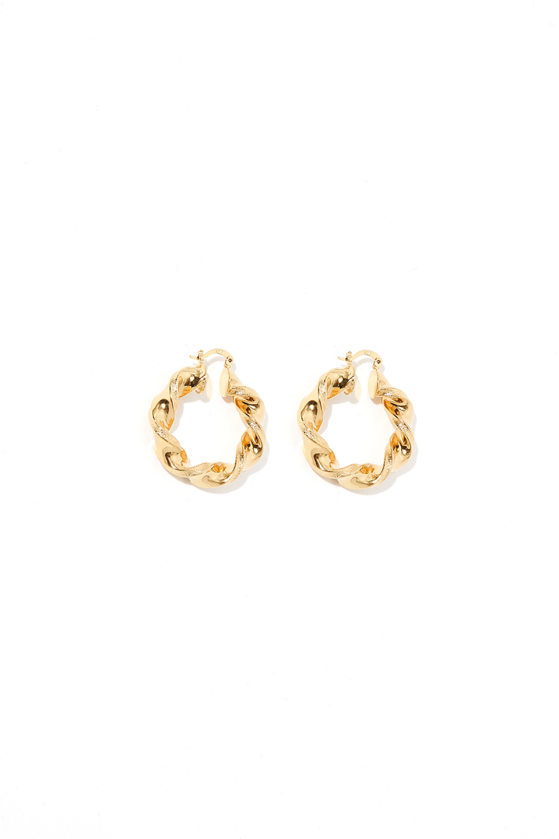 Earring - Totem #60- Gold Plated - Small Hoop