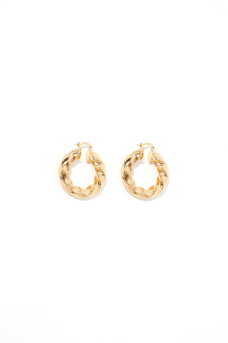 Earring - Totem #61- Gold Plated - Small Hoop