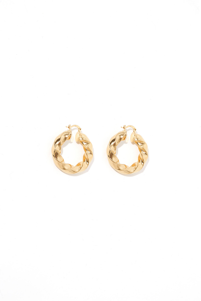 Earring - Totem #61- Gold Plated - Small Hoop Earring - Totem #61- Gold Plated - Small Hoop