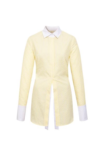 Backless Shirt - Yellow - White Backless Shirt - Yellow - White