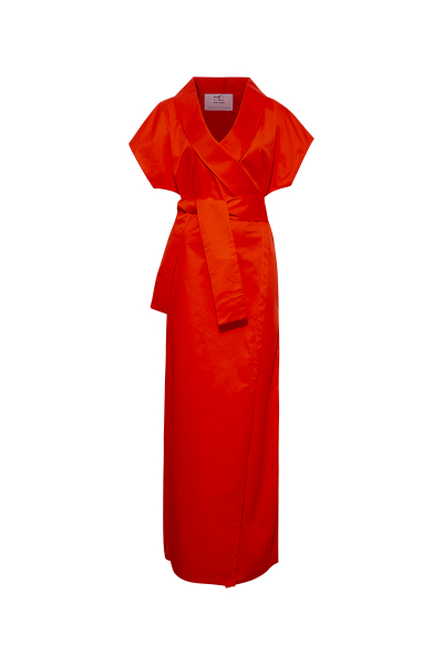 Red Maxi Kimono Shirt Dress Red Maxi Kimono Shirt Dress