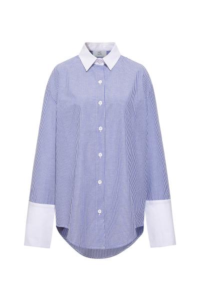 Blue and White Pinstripe, Xl Cuff Shirt Blue and White Pinstripe, Xl Cuff Shirt